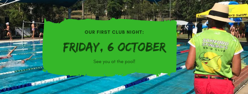 First Club night - Friday 6th October, 2017